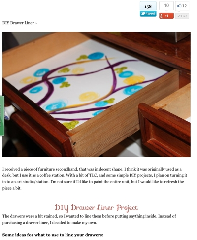 DIY Drawer Liner Project